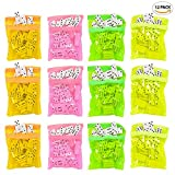ArtCreativity Dominoes Game Set (Pack of 12) | 28 Pieces Per Neon Pink, Yellow and Orange Colorful Bags | Great School - Carnival Prizes | Domino Set | Awesome Party Favor - Fun Game for Kids