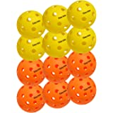 EasyTime Outdoor and Indoor Pickleball Balls, Specifically Optimized Design Pickleball Balls, Flight Trajectory is Stable, Hi