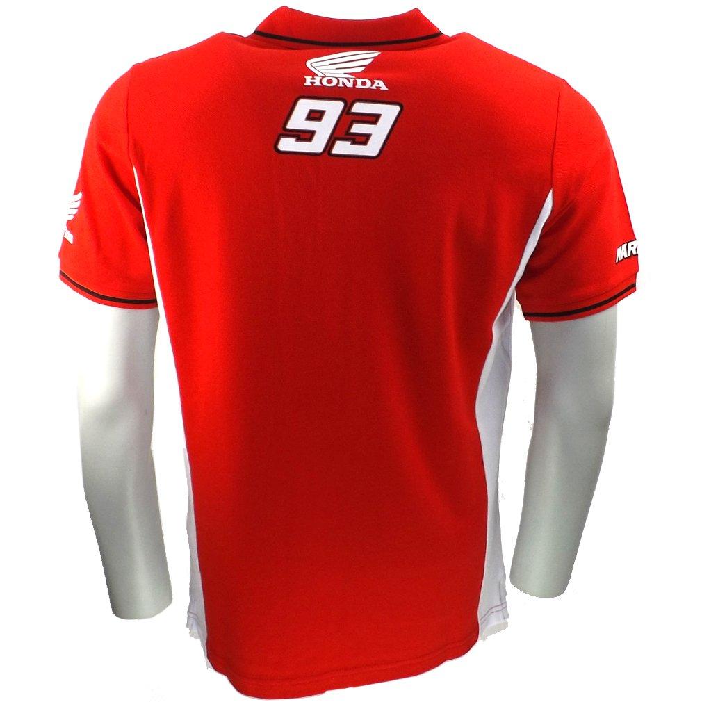 Marc Marquez 93 Dual Honda Moto GP Polo camisa roja oficial Nuevo ...
