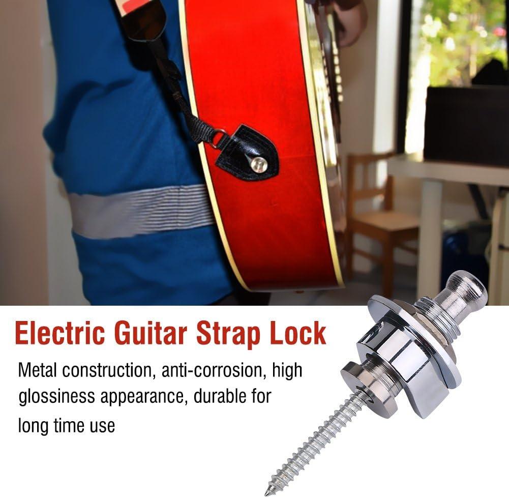Guitar Strap Buttons Anti-Skid Straplocks Electric Acoustic Guitar Bass Strap Locks Dilwe 2Pcs Guitar Strap Locks