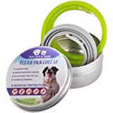 """KOBWA 2 Pack Flea and Tick Collar for Dogs Cats, Pest Control Collars, 8 Months Protection, Adjustable 25"""" Length Fits for Small Medium Large Pets, Natural Formula"""