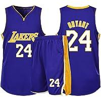 Adecuado para Kobe Bryant NO.24 Los fanáticos de Los Angeles Lakers Niños Niñas Camisetas de Baloncesto Adolescentes…