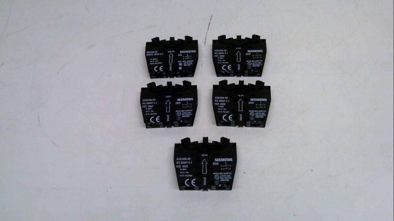 Amazon.com: Siemens 3sb3400 – 0d – Pack de 5 – Bloque de ...