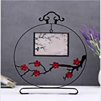 GYN Photo Frame Creative Classical Table 7 Inch Chinese Style Wrought Iron Living Room TV Cabinet Modern Home Classical Plum Photo Frame