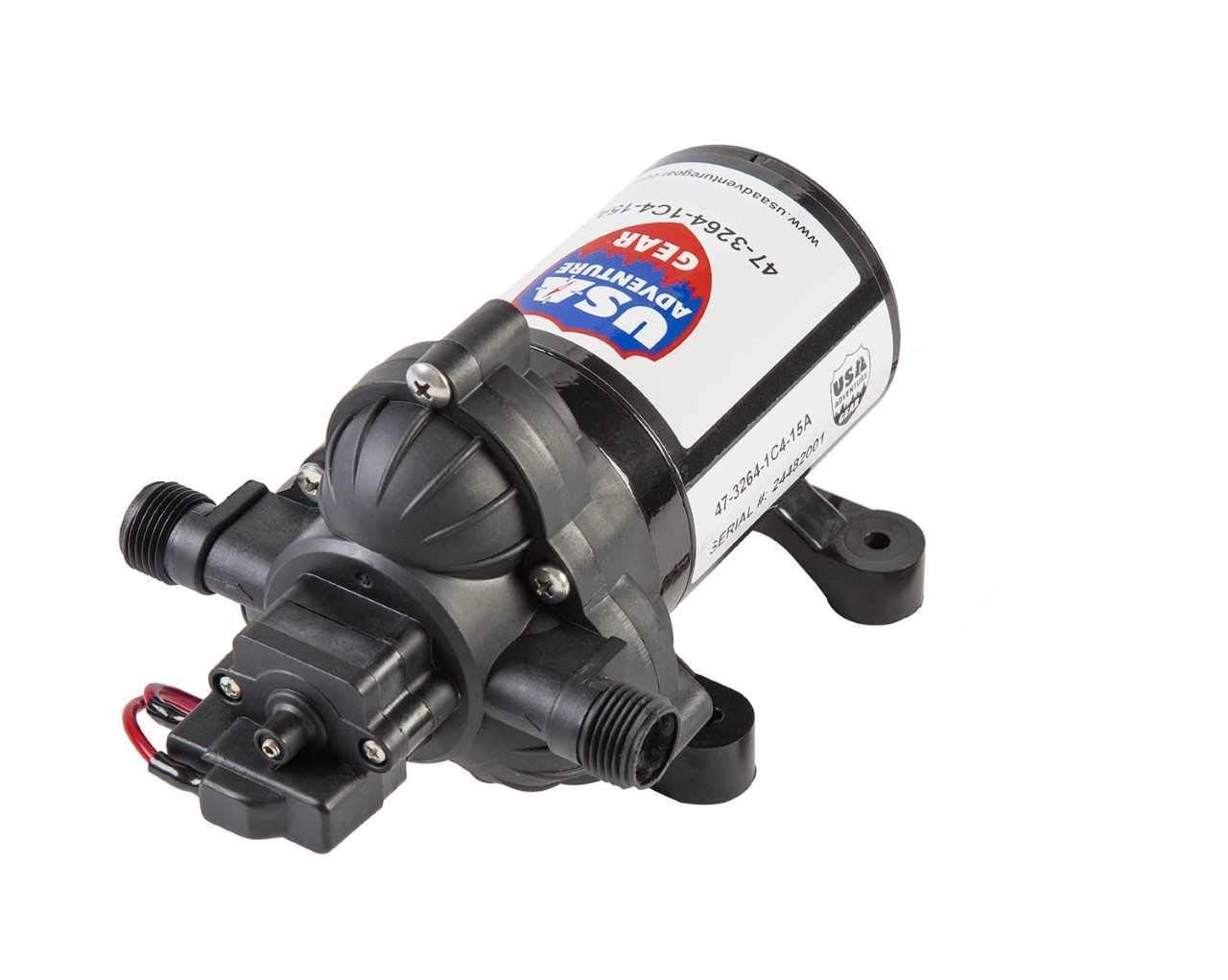 USA Adventure Gear Progear 3200 RV Replacement Water Pump   4008 Revolution Direct Replacement   3 GPM   Electric Whisper Quiet Operation   Self-Priming   Approved for Potable Water Use by USA Adventure Gear