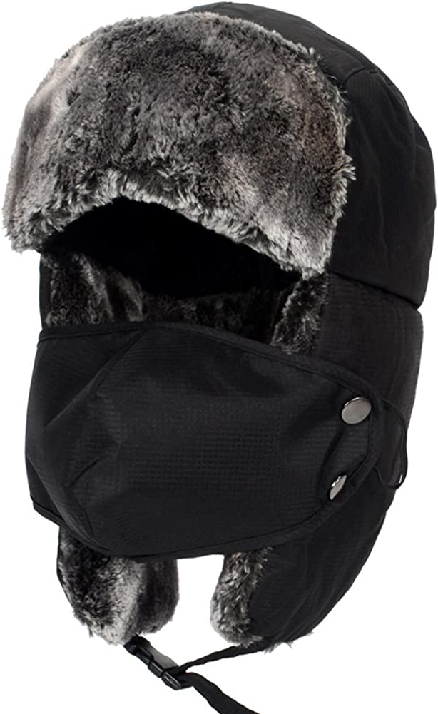 Messagee Ski Hat with Mask Ear Flaps by Windproof Winter Warm Cap