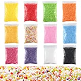 Colorful Styrofoam Foam Balls for Slime Party Decoration Polystyrene Beads for Kid'S Handmade Slime Making Art DIY Crafts Home Decor (Mixcolor)