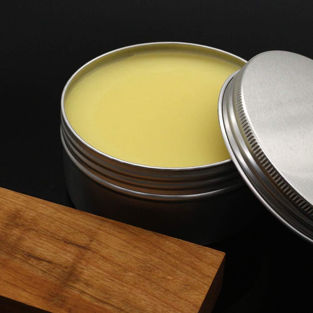 LIOOBO 200 Gramos de Madera Maciza Cera nutritiva Aluminio Madera de Cera Aceite de Cera Mantenimiento de Madera s/ólida Cera de Abejas