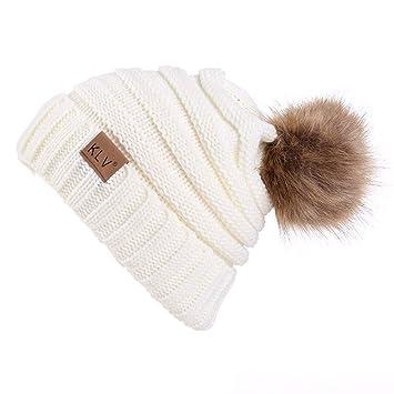 eb3130378d3a Amazon.com: NUWFOR Men Women Baggy Warm Crochet Winter Wool Knit Ski ...