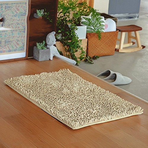 HOMEE Absorbent Chenille Mat/Bedroom Hall Foot Pedal/Bedroom Antilip Door Mats,A,120X160Cm(47X63Inch) by HOMEE