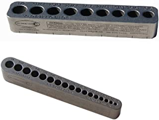 product image for V-Drill Guide Standard Hole Sizes 1/8-1/2 Inches - 2 Pack