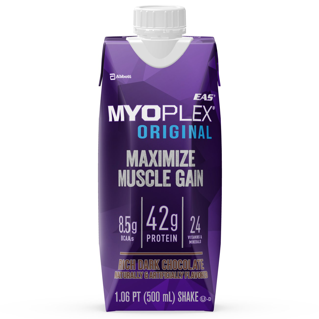 EAS Myoplex Original Ready-To-Drink Protein Shake, Rich Dark Chocolate, 17 oz, 4 count (Pack of 3)