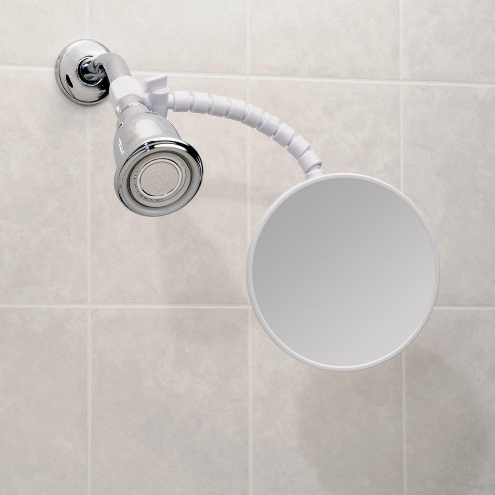 Amazon.com: InterDesign Suction Fog-Free Shower Shaving Mirror for ...