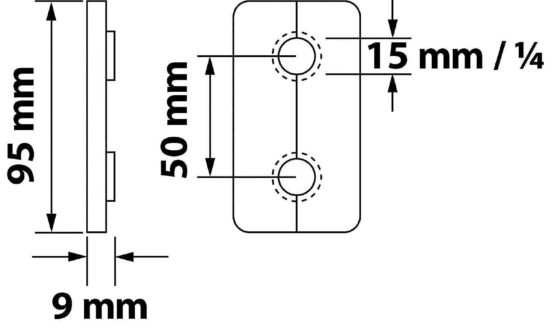 Klapprosette Sanitop-Wingenroth 19457 0 Doppel 15 mm oder 1//4 Zoll Eiche 2 St/ück 2er-Set Rosette