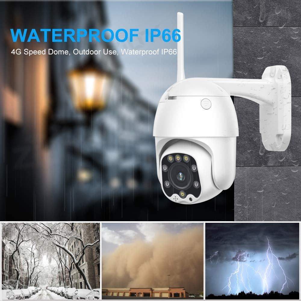 C/ámara CCTV 3g 4g Tarjeta Sim WiFi Inal/ámbrico Ptz C/ámara IP 2mp HD Seguridad Vigilancia Exterior Audio Bidireccional Camhi 1080p Versi/ón 4G A/ñadir 128G