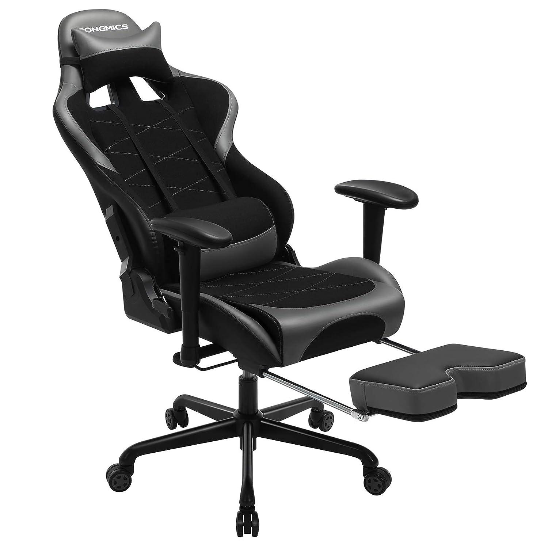SONGMICS Gaming Stuhl mit Fußstütze