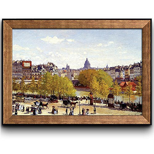 Quai du Louvre 1867 by Claude Monet Framed Art