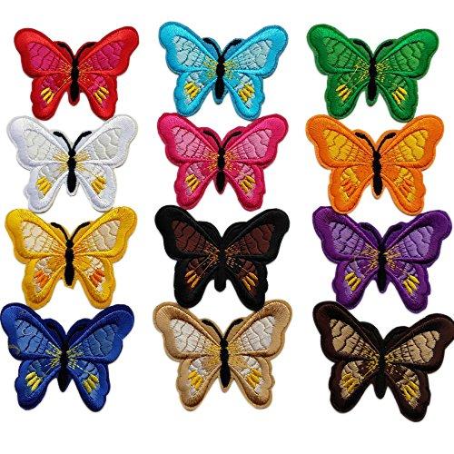 Chenkou Craft 24PCS/12PAIRS farfalla assortiti o toppa ricamata termoadesiva applique patch Yiwu Juqian Trade Co. Ltd A0589