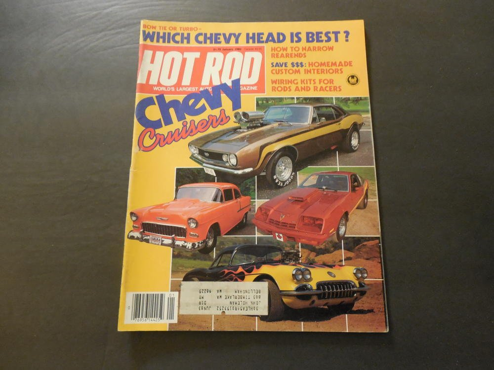 Hot Rod Jan 1983 How To Narrow Rear Ends (Get Her On The Exercise Bike) at Amazons Entertainment Collectibles Store