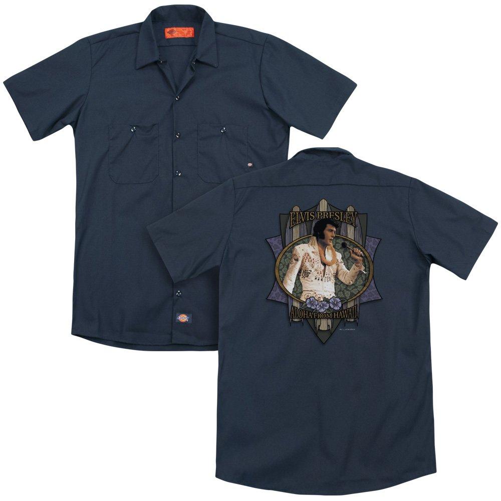 Elvis Aloha from Hawaii Adult Work Shirt