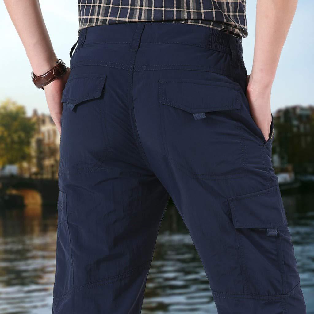 Sunyastor Men's Casual Cargo Pants Multi-Pocket Sports Fitness Camo Work Pants Military Athletic-Fit Trousers by Summer by Sunyastor men pants (Image #3)