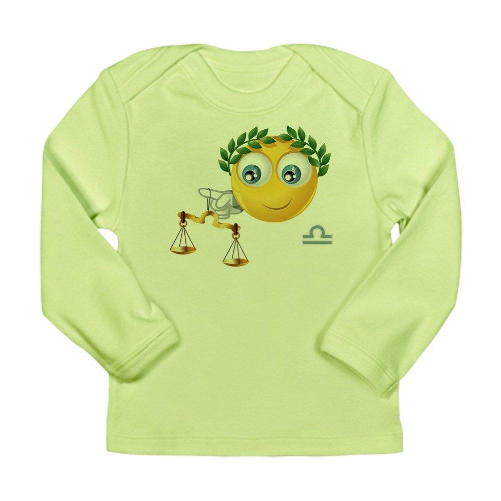 0 To 3 Months Truly Teague Long Sleeve Infant T-Shirt SmileyFace Zodiac Libra Kiwi