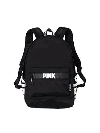 45eb2afcc28e Victorias Secret Pink Campus Backpack Black White Logo