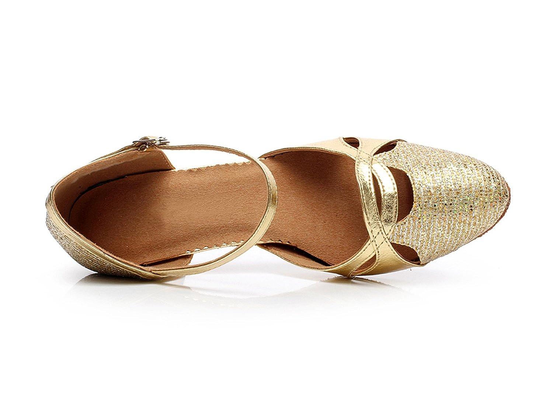 MINITOO qj707/Damen Mary Jane Glitzer Modern Sparkle Salsa Tango Ballsaal Latin Dance Schuhe