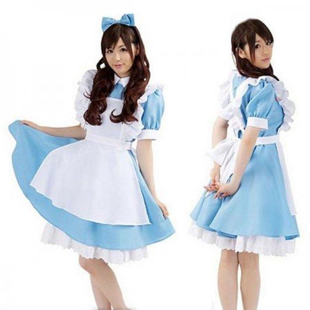 Amazon.com Deetto Alice in Wonderland Cosplay Anime Maid Costumes Lolita Women Girls Dress Toys u0026 Games  sc 1 st  Amazon.com & Amazon.com: Deetto Alice in Wonderland Cosplay Anime Maid Costumes ...
