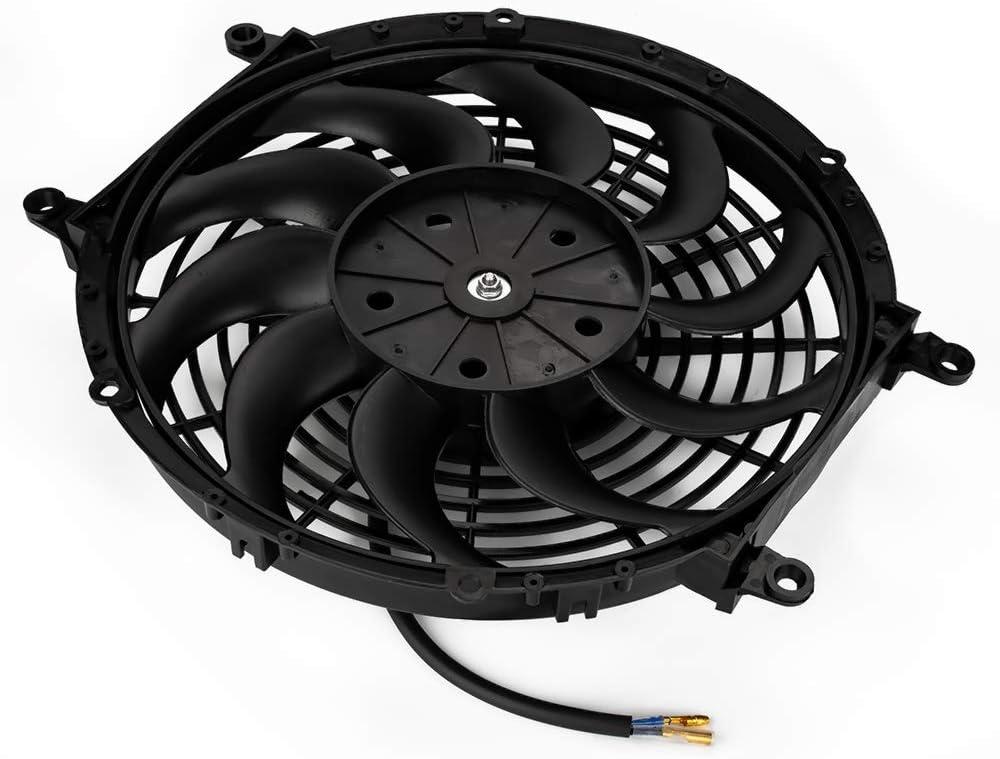 Jtron Ventilador de refrigeraci/ón el/éctrico universal Slim Fan Push Pull Motorblatt FAN 12 V 80 W Kit de montaje