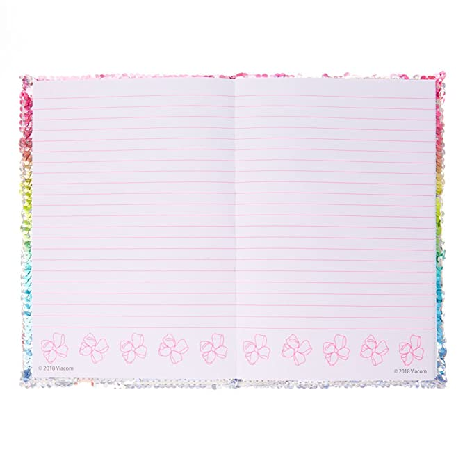 a34250c9c Claire s JoJo SiwaTM Dance Your Bow Off Reversible Sequin Notebook Rainbow Silve   JoJo Siwa  Amazon.co.uk  Clothing