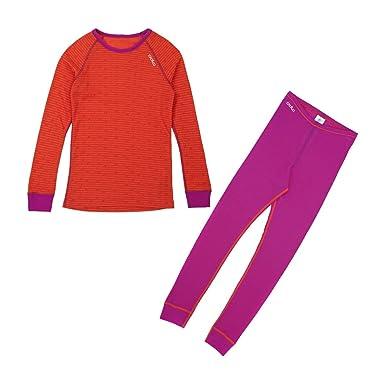 Odlo - Ropa interior infantil, tamaño 80 UK, color plum morado - Magenta