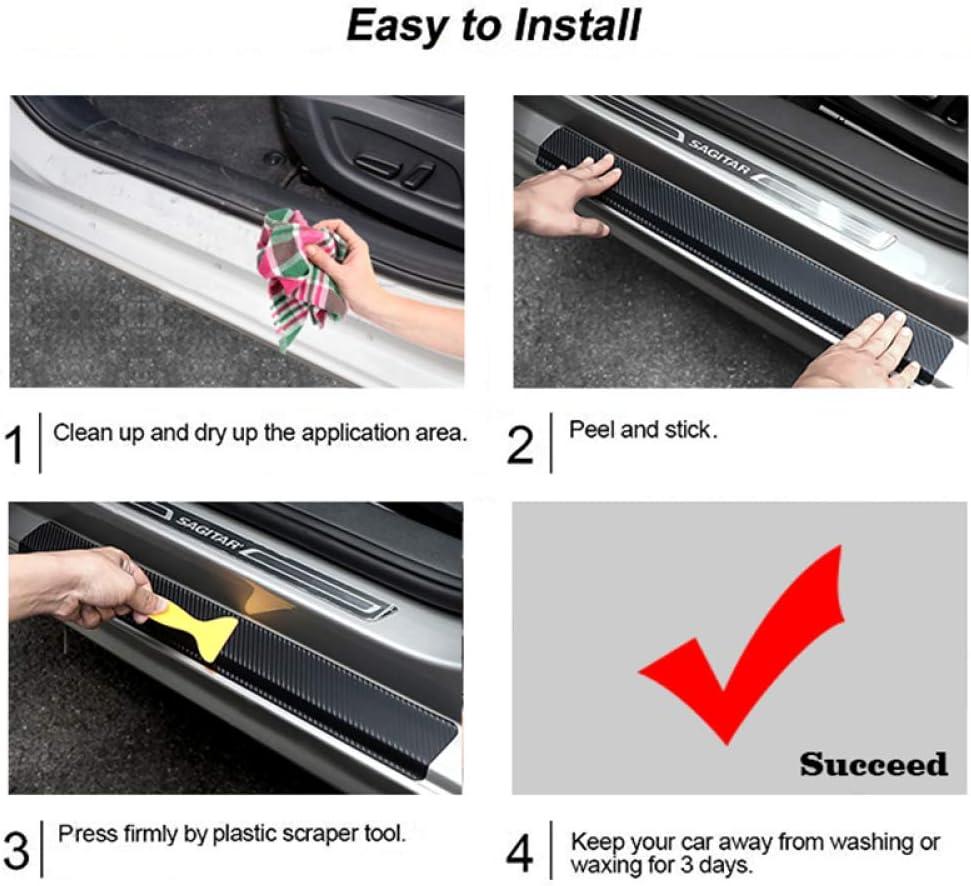 CFHMLK 4 pezzi adesivi protettori per davanzali fai da te per Subaru XV car styling battitacco battitacco autoadesivo benvenuto pedale