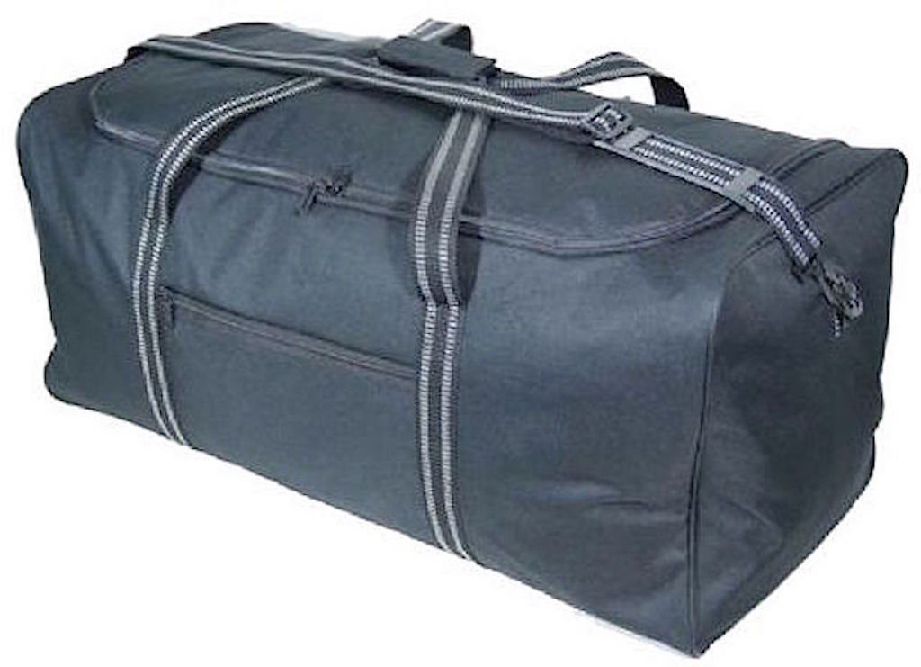 "GoHopper Extra Large 34""/86cm 125 Litres Lightweight Black Sports Holdall Travel Storage Cargo Overnight Padlockable Bag GH-3134"