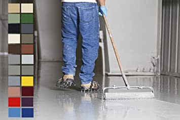 Fußboden Farbe ~ K epoxidharz bodenbeschichtung seidenglänzend ral farben kg
