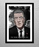 Gordon Cole - Twin Peaks - David Lynch - Fix your Hearts or Die - Original Minimalist Art Poster Print