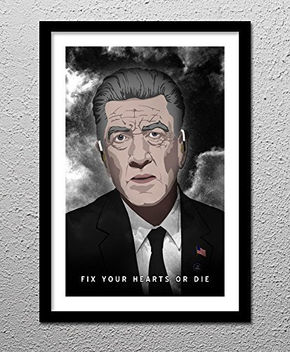 (Gordon Cole - Twin Peaks - David Lynch - Fix your Hearts or Die - Original Minimalist Art Poster Print)