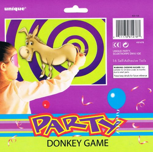 Pin The Tail On The Donkey Game for 16 Players Unique 81478
