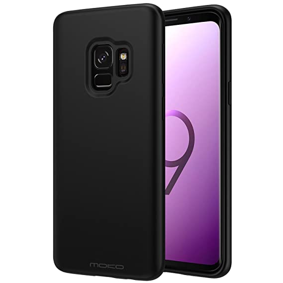 new products c8e57 98e1a Samsung Galaxy S9 Case, MoKo Liquid Silicone Gel Rubber Slim Fit Shockproof  Case with Soft Microfiber Cloth Lining Cushion for Samsung Galaxy S9 5.8 ...