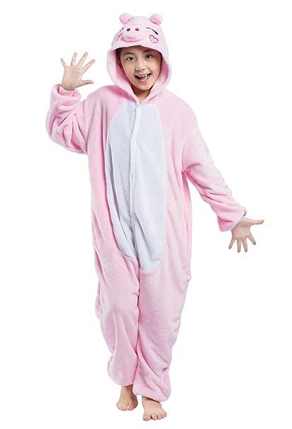 Wamvp Kigurumi Niños Pijama Ropa De Dormir Animal Disfraz Halloween Niñas Chico: Amazon.es: Ropa y accesorios