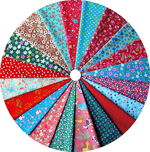 Grannycrafts 20pcs 20x30cm Christmas Festival Theme Top Cotton Printed Craft Fabric Bundle Squares Patchwork Lint Print Cloth Fabric Tissue DIY Sewing Scrapbooking Quilting -