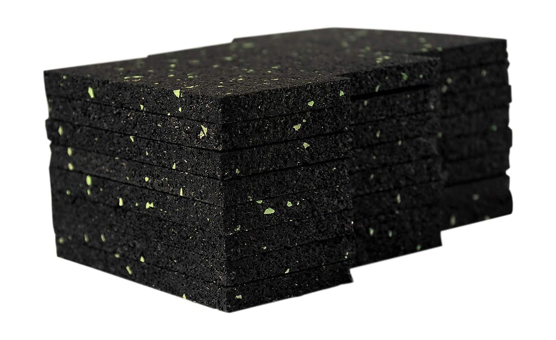 Lot de 72 patins de terrasse en granul/és de caoutchouc pour terrasse /Épaisseur 8 mm 50 x 100 mm