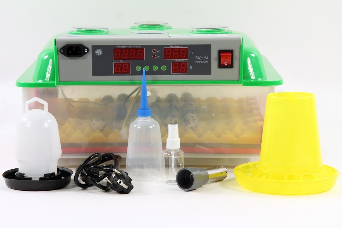 Inkubator VOLLAUTOMATISCH BKPro-Q + Zubehör, 132 Eier, Wachteleier, Taubeneier, Brutautomat, Brutmaschine