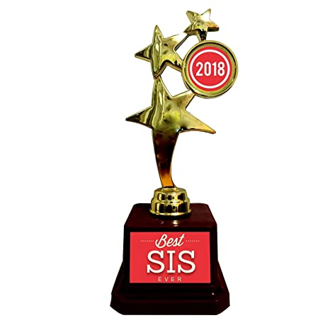 Buy YaYa Cafe Birthday Gift For Sister Best Sis Ever Trophy Award