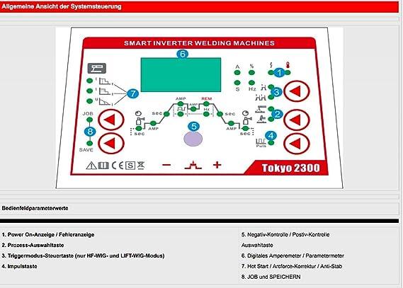 Swim Tokyo 2300 combinado sudor dispositivo DC Wig 200 Plus TIG MMA S de mano Inverter 3 en 1: Amazon.es: Bricolaje y herramientas