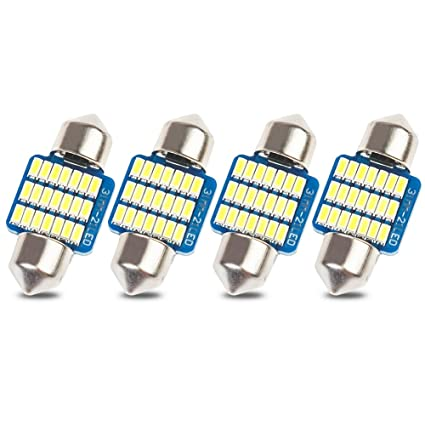 4x 42mm Pure White 33*3014 Chip LED Festoon Canbus Interior Dome//Map Light bulbs