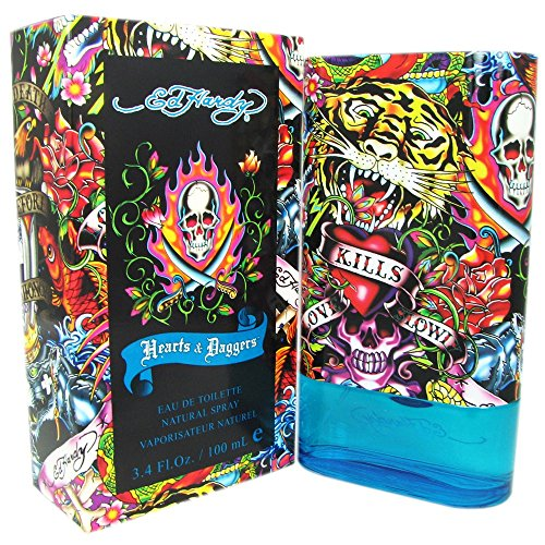 Ed Hardy Hearts & Daggers for Men 3.4 oz EDT Spray - Mens Cologne Ed Hardy