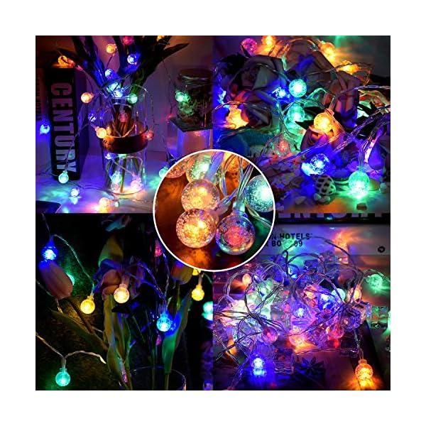 Luce della stringa,Tececu luce decorativa esterna 50 Palla LED USB, Catene Luminose 5M con 8 Modalità, per Interno/Esterno, Feste, Giardino, Natale, Matrimonio, Albero di Natale, Terrazzo 2 spesavip