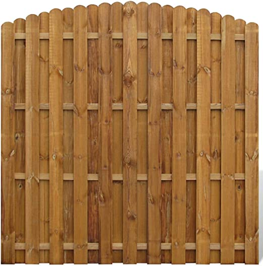 vidaXL Panel de Valla Arqueado de Jardín Madera Marrón Pared de Cerca 180x180: Amazon.es: Jardín