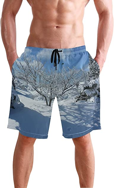 Crazy Swim Shorts for Men Camouflage Abstract Art Swimming Trunks Quick Dry Mens Beach Shorts Swimwear